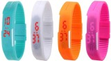 NS18 Silicone Led Magnet Band Combo of 4...