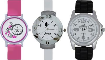 Frida Designer VOLGA Beautiful New Branded Type Watches Men and Women Combo630 VOLGA Band Analog Watch  - For Couple
