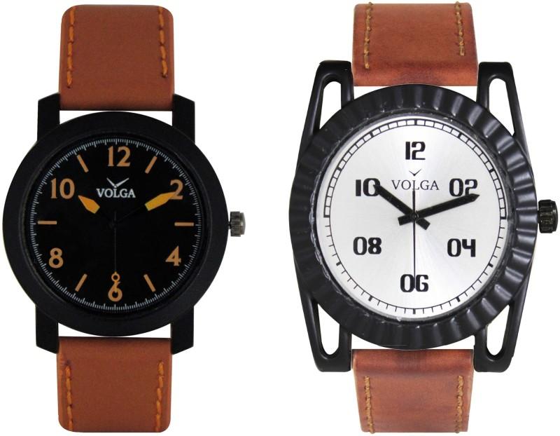 VOLGA Branded Leather Quality Designer Dial Diwali Special Combo3