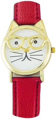 RBS Online Trading Company CatDial_RED 009 Analog Watch  - For Women, Girls