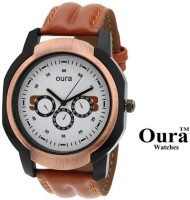 Oura Casual Wear Tan Leather Watch Analog Watch For Men
