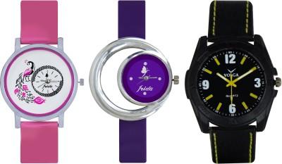 Frida Designer VOLGA Beautiful New Branded Type Watches Men and Women Combo566 VOLGA Band Analog Watch  - For Couple