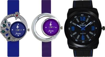 Frida Designer VOLGA Beautiful New Branded Type Watches Men and Women Combo470 VOLGA Band Analog Watch  - For Couple