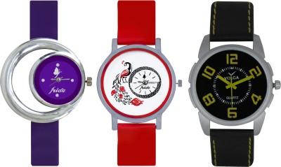 Frida Designer VOLGA Beautiful New Branded Type Watches Men and Women Combo685 VOLGA Band Analog Watch  - For Couple