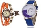 Mxre Orange-Blue-Wrist Analog Watch  - F...