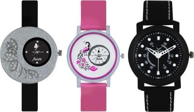 Frida Designer VOLGA Beautiful New Branded Type Watches Men and Women Combo268 VOLGA Band Analog Watch  - For Couple