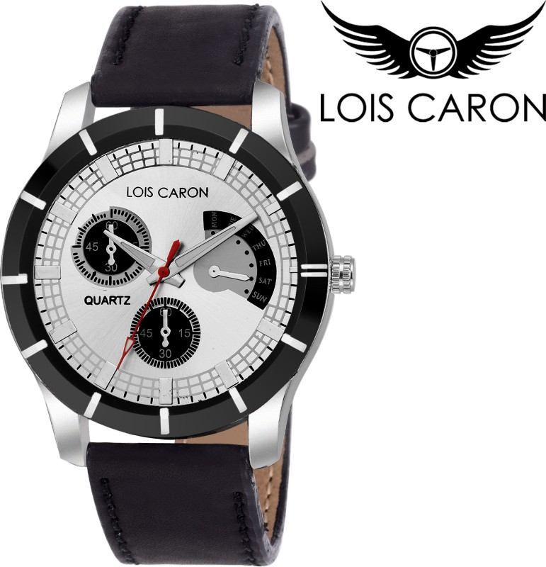 Lois Caron LCS 4131 WHITE CHRONOGRAPH PATTERN Analog Watch For