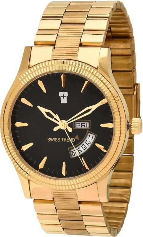 Swiss Trend ST2165 Golden Finish Analog Watch For Men