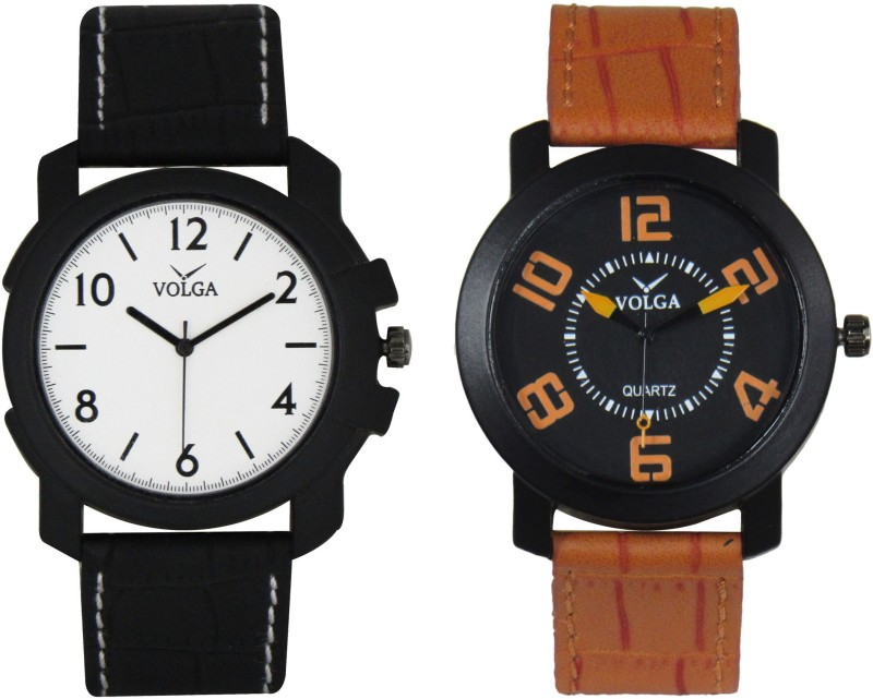 VOLGA Branded Leather Quality Designer Dial Diwali Special Combo2