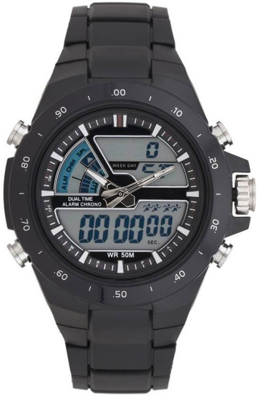 Zekonis SKMEI 1016 BLACK Analog Digital Watch For Men