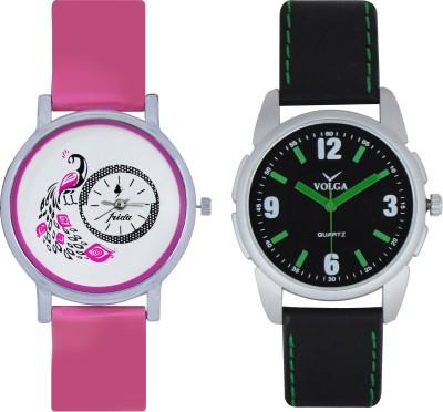 Frida Designer VOLGA Beautiful New Branded Type Watches Men and Women Combo94 VOLGA Band Analog Watch  - For Couple