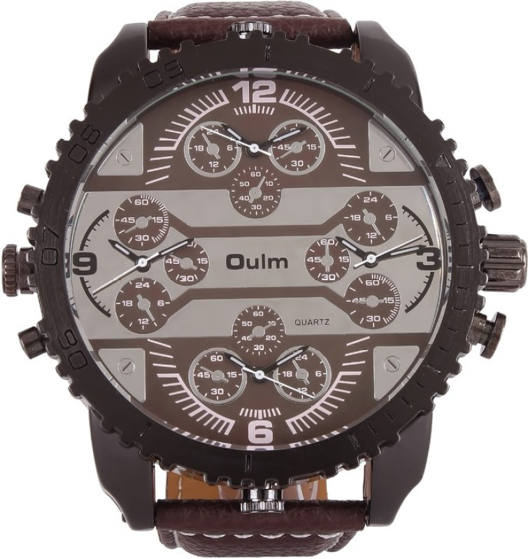 Oulm HP3233GUNBR Analog Digital Watch For Men