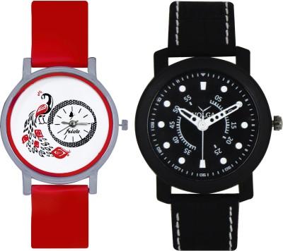 Frida Designer VOLGA Beautiful New Branded Type Watches Men and Women Combo157 VOLGA Band Analog Watch  - For Couple