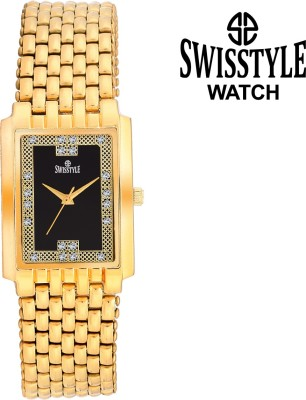 Swisstyle SS-GSQ9211-BLK-GLD Dazzle Analog Watch  - For Men