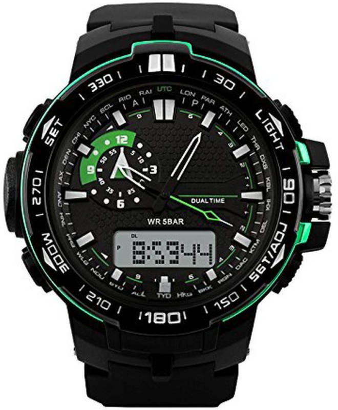 PredictWay 1081GRN SKMEI Analog Digital Watch For Men