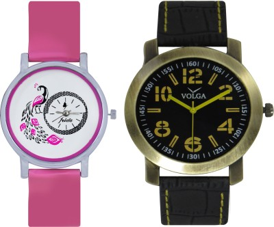 Frida Designer VOLGA Beautiful New Branded Type Watches Men and Women Combo101 VOLGA Band Analog Watch  - For Couple