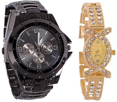 TRUE COLORS Unique Love Combo Parish 2050 Analog Watch  - For Couple