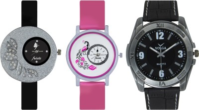 Frida Designer VOLGA Beautiful New Branded Type Watches Men and Women Combo287 VOLGA Band Analog Watch  - For Couple