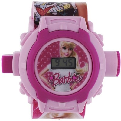 Navyamall Birthday GIFT Barbie 24 Photo LED PROJECTOR Sports for Fun Loving Kids Digital Watch  - For Girls