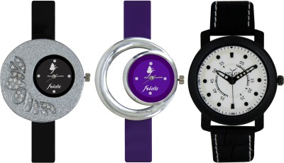 Frida Designer VOLGA Beautiful New Branded Type Watches Men and Women Combo306 VOLGA Band Analog Watch  - For Couple