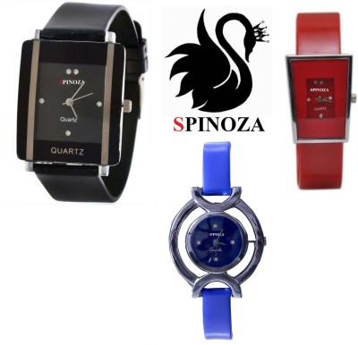 SPINOZA glory blue black red pack of 3 beautiful watches for girls Analog Watch  - For Women