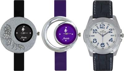 Frida Designer VOLGA New Branded Type Watches Men and Women Combo314 VOLGA Frida Couple Analog Watch  - For Couple