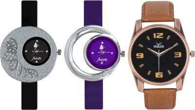 Frida Designer VOLGA Beautiful New Branded Type Watches Men and Women Combo312 VOLGA Band Analog Watch  - For Couple