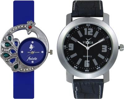 Frida Designer VOLGA Beautiful New Branded Type Watches Men and Women Combo61 VOLGA Band Analog Watch  - For Couple