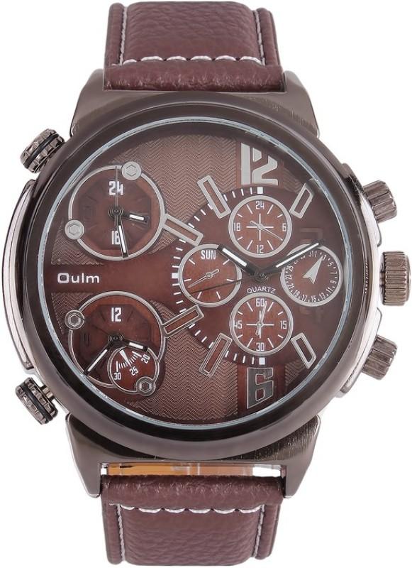 Oulm HP3299GUNBR Analog Digital Watch For Men