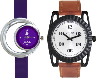 VOLGA Designer FVOLGA Beautiful New Branded Type Watches Men and Women Combo53 VOLGA Band Analog Watch  - For Couple