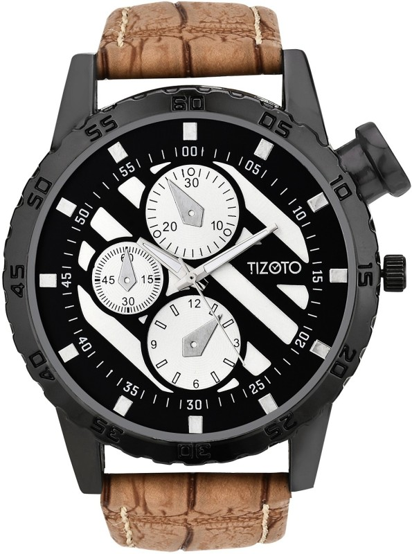 Tizoto tzom639 Tizoto Black dial metal analog watch Analog Watch