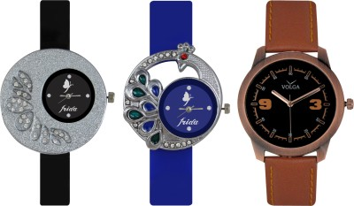 Frida Designer VOLGA Beautiful New Branded Type Watches Men and Women Combo237 VOLGA Band Analog Watch  - For Couple