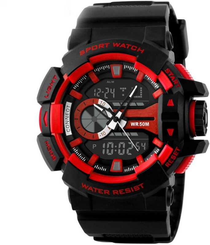 Abrexo FF S 1117 RED Sports Analog Digital Watch For Men