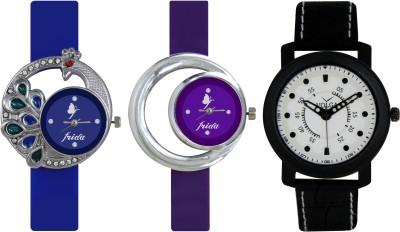 Frida Designer VOLGA Beautiful New Branded Type Watches Men and Women Combo454 VOLGA Band Analog Watch  - For Couple