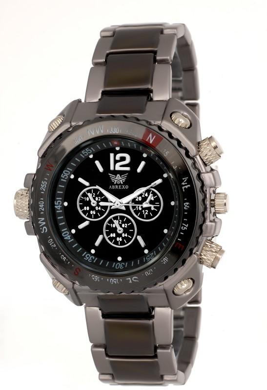 Abrexo Abx 8445SLVBLK Nextra Analog Watch For Men