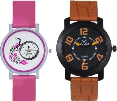 Frida Designer VOLGA Beautiful New Branded Type Watches Men and Women Combo88 VOLGA Band Analog Watch  - For Couple