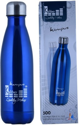 Kaliber Kampus - 500 Thermosteel - Dark Blue - Hot & Cold 500 ml Water Bottle(Set of 1, Blue)