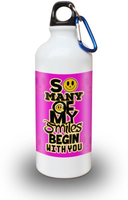 Sky Trends Gift So Many Of My Smiles Begin With You White Sipper Bottle 600 ml Water Bottle