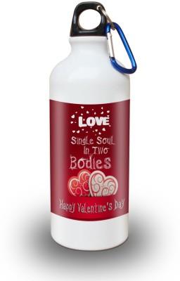 Sky Trends Gift Love Single Soul In Two Bodies White Sipper Bottle 600 ml Water Bottle