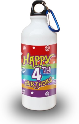 Sky Trends Gift 4th Happy Birthday 600 ml Water Bottle