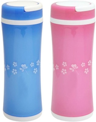 Tuelip Opaque Series 350 ml Water Bottles(Set of 2, Multicolor)