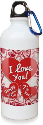 Sky Trends Gift Happy valentine's Day To You White Sipper Bottle 600 ml Water Bottle