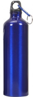 Tuelip Aluminium Durable Sports Water Bottle For College,School Bottle 750 ML With Carabiner - Blue 750 ml Water Bottle(Set of 1, Blue)
