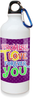 Sky Trends Gift Promise To Love You Forever White Sipper Bottle 600 ml Water Bottle