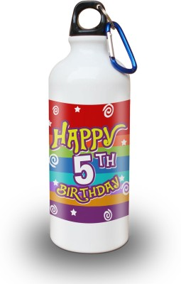 Sky Trends Gift 5th Happy Birthday 600 ml Water Bottle