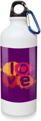 Sky Trends Gift Love Multicolor White Sipper Bottle 600 ml Water Bottle