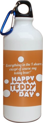 Tiedribbons Happy Teddy Day Yellow Background Sipper 600 ml Water Bottle