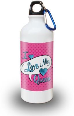 Sky Trends Gift I Love My Queen White Sipper Bottle 600 ml Water Bottle