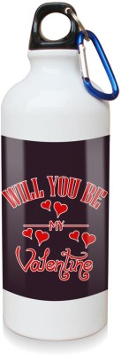 Sky Trends Gift Will You Be My Valetine White Sipper Bottle 600 ml Water Bottle