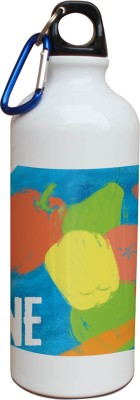 Tiedribbons Our Earth_Our Care_World Envronment Day_Green Medicine _White Sippers 600 ml Water Bottle